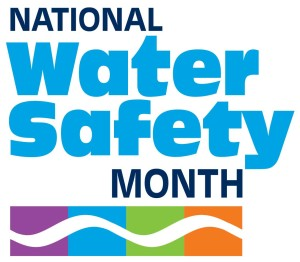 national water safety month logo